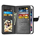 Galaxy J7 2017 Wallet Case,J7 V,J7 Perx,J7 Prime,J7 Sky Pro,Galaxy Halo Case,[9 Card Slots] Leather Wallet Flip Stand Holder Holster Protective Case Cover for Samsung Galaxy J7 2017 (Black) Review