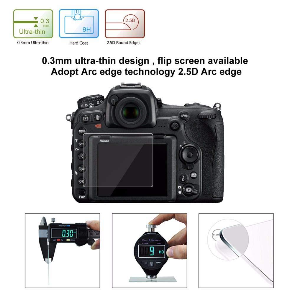 Cikuso PULUZ 2.5D Borde Curvo Protector de Pantalla de Vidrio Templado de dureza Superficial 9H para Nikon D500 D600 D610 D7100 D7200 D750 D800 D810: ...
