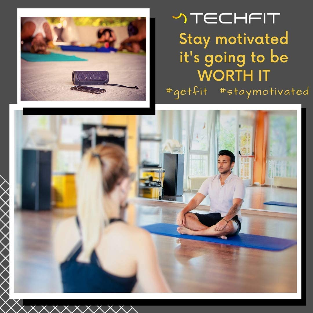TechFit Esterilla Deporte Gruesa para Gimnasio en Casa – Esterilla Yoga Antideslizante para Ejercicio en Casa – Colchoneta Gimnasia Ideal para ...