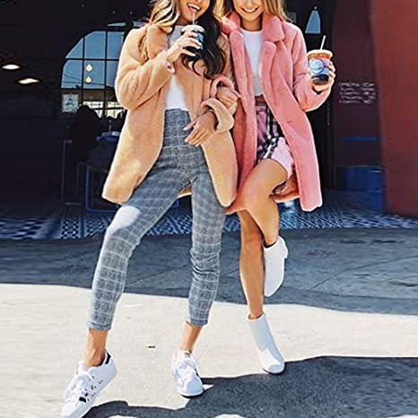 Amazon.com: Besde Womens Clearance Winter Parka Outwear Faux Fur Coat Jacket Lapel Solid Slim Zipper Jacket Overcoat with Pockets: Baby