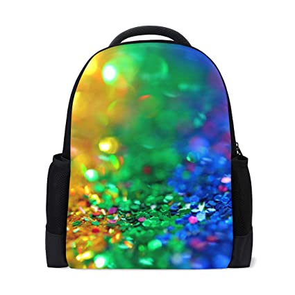 Amazon com | Rainbow Color Scales Cool Backpack Laptop