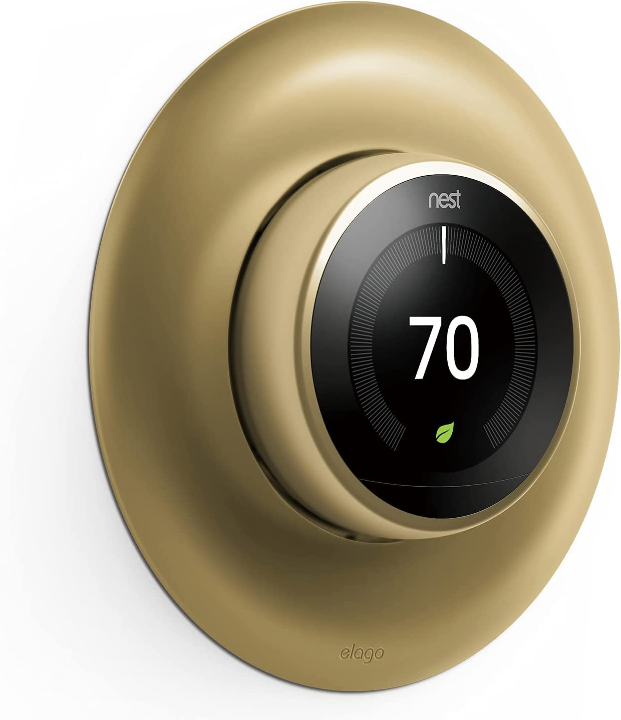 elago Wall Plate Cover Designed for Google Nest Learning Thermostat (Brass) - Compatible with Nest Learning Thermostat 1st/2nd/3rd Generation, Not Compatible with 2020 Models [US Patent Registered]