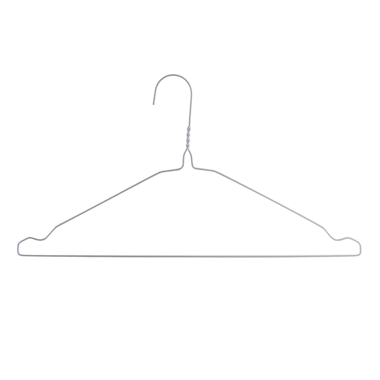 100 Drahtkleiderbügel mit weiß, 40 cm breit Hangerworld: Amazon.de ...