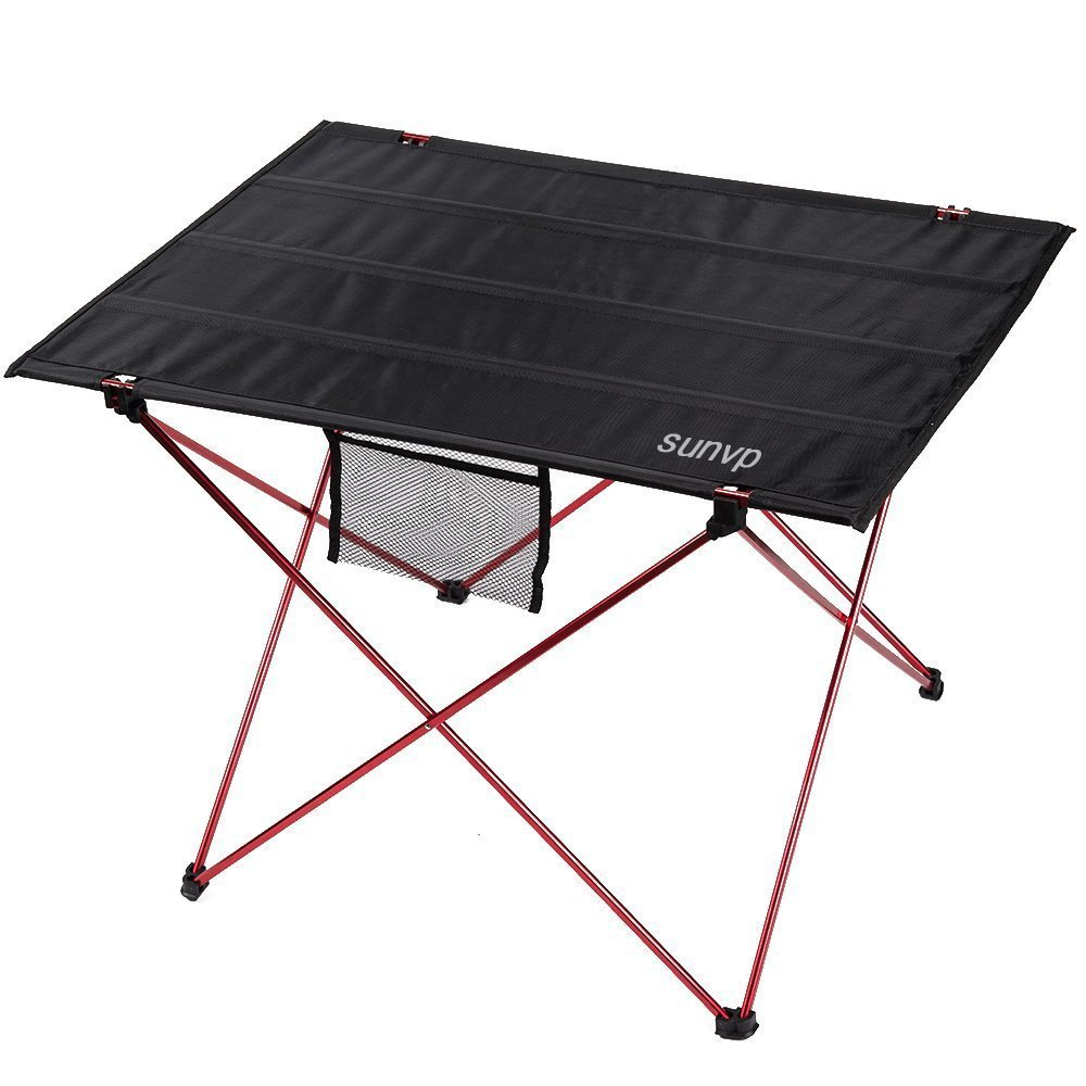 SUNVP Ultralight and Portable Folding Picnic Camping Table with Carrying Bag for Outdoor Camping Hiking Grey