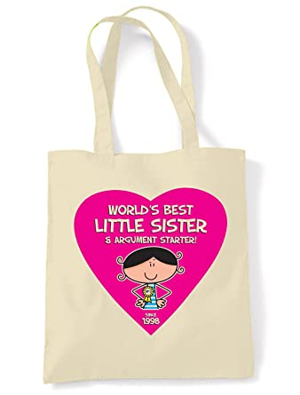 Tribal T Shirts World Best Little Sister Womens 18th Birthday Present Shoulder Tote Bag