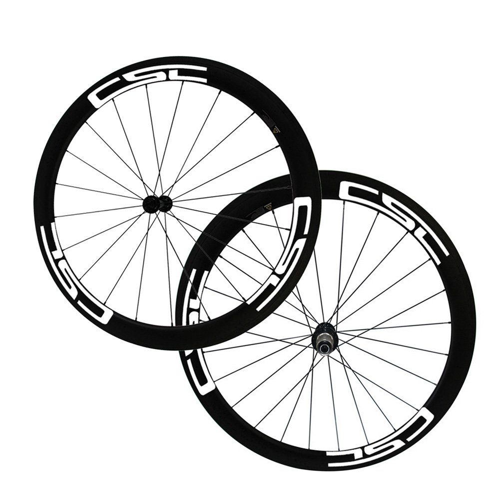 Amazon com loltra csc decals 23mm wide 50mm carbon wheelset r13 road bike wheels 700c white decal sports outdoors