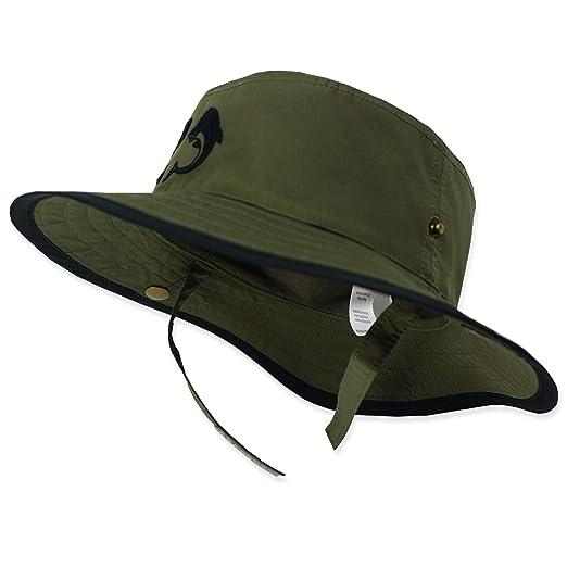 92372f0abf2 Amazon.com  Keepersheep Kids Boys Sun Camo Bucket Hat Cap