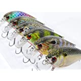 wLure Minnow Crankbait for Bass Fishing Bass...