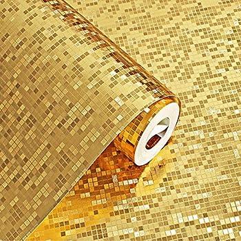 26110- Vinyl Gold Metallic Wallpaper for Gold Shiny Glitter ...
