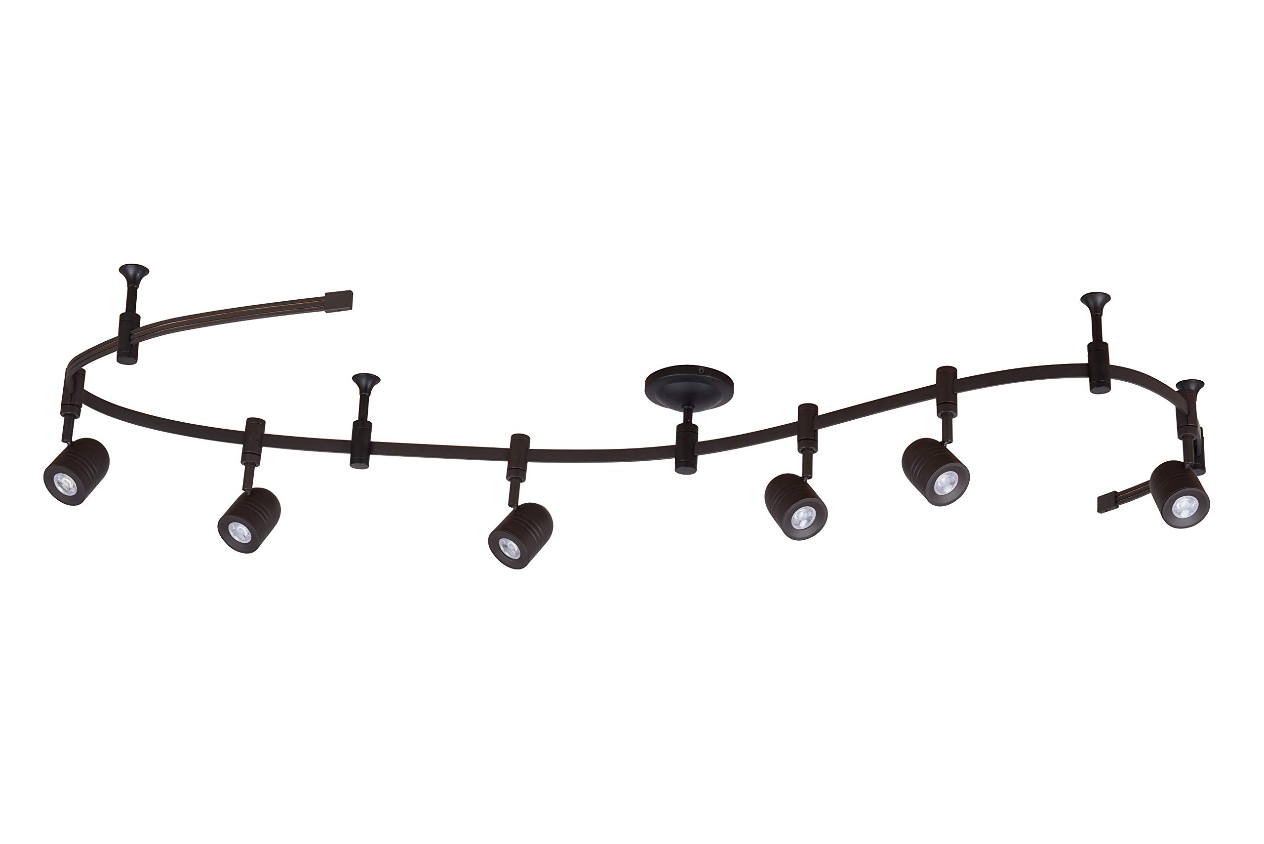 Catalina Lighting 21903-000 Transitional 6 Integrated LED Flex Track Ceiling Light, Bulbs Included, 96'', Bronze by Catalina Lighting (Image #1)