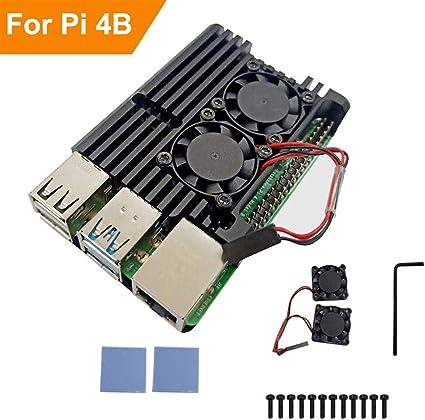RLTech Raspberry Pi 4 Modelo B Caja, disipador de Calor para ...