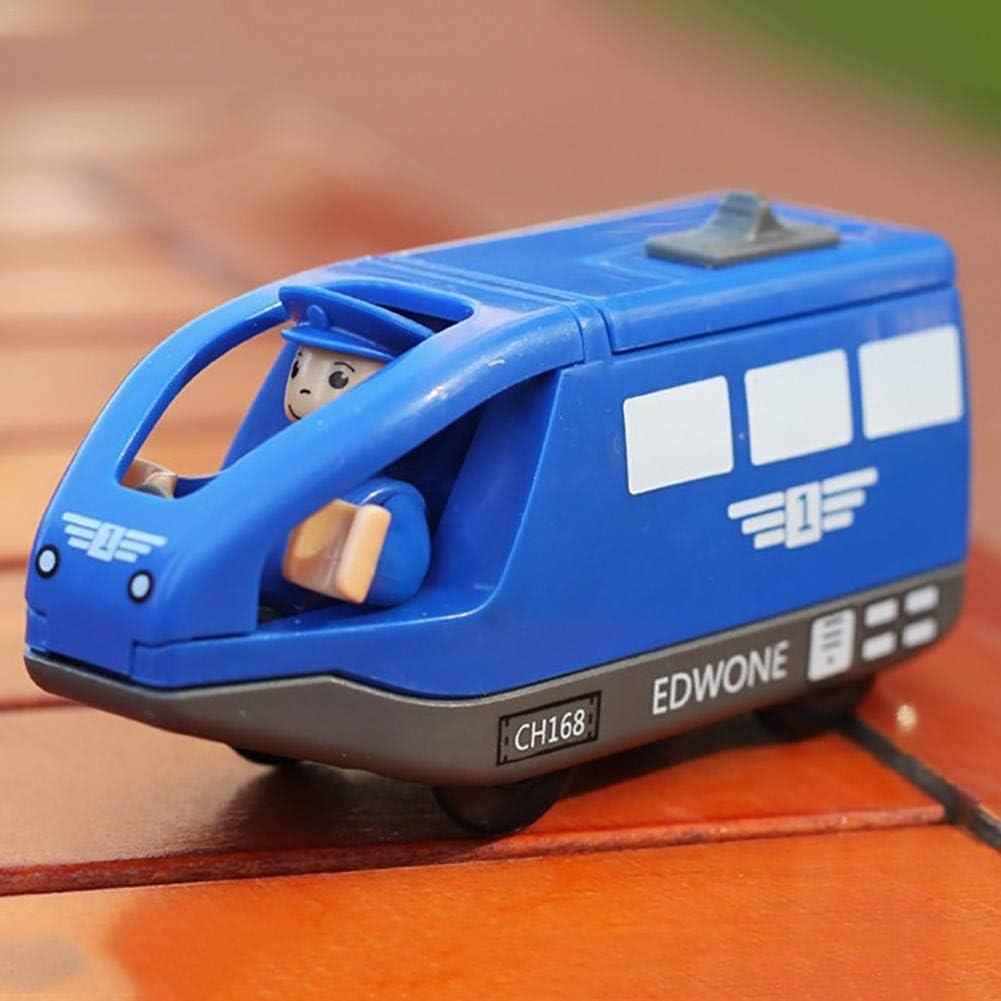 primrosely Train Electrique Enfant Train De Passagers Circuit Train Electrique Compatibles pour Thomas Piste en Bois pour Enfants Cadeau danniversaire Cadeau