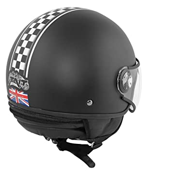 CASCO 1 / 2 JET TNT PUCK CAFE RACER UNION JACK XS