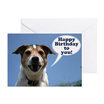 Cafepress Happy Birthday Card Cheeky Jack Russell Greeting