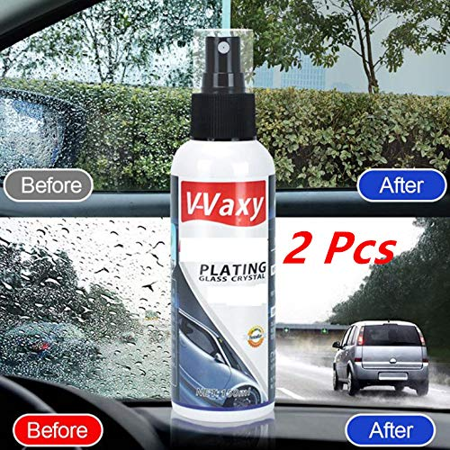 Efaster Glass Marks Remover,Eco Friendly Stain Remover,Professional Cleaner Removes Shower Doors/Windshields/Windows (2 Pcs)