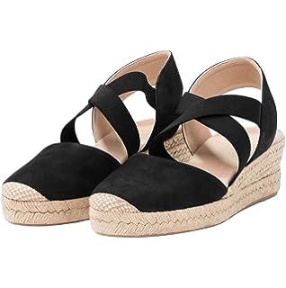 2836f2d445e Amazon.com | Comfortview Women's Plus Size The Abra Espadrille ...