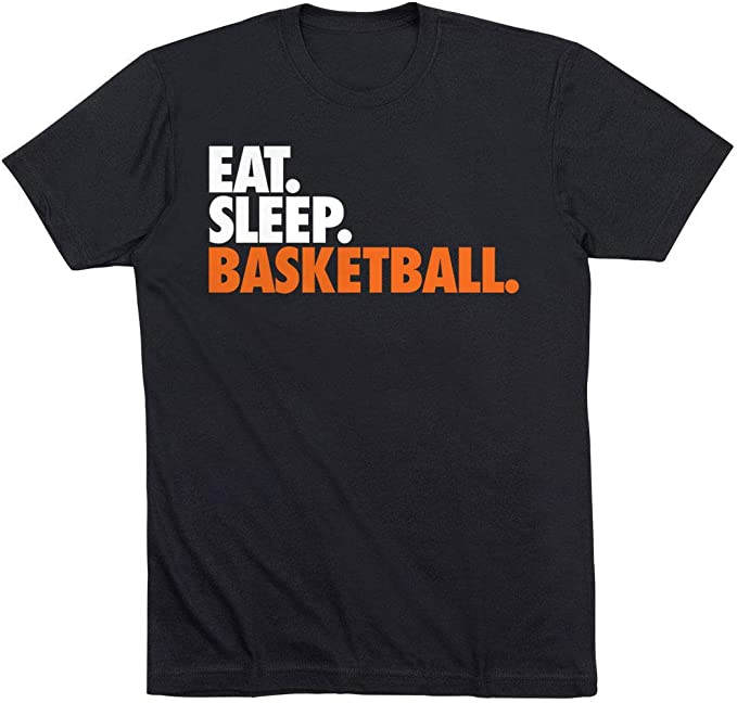 Eat. Sleep. Basketball. T-Shirt | Basketball Tees by ChalkTalk Sports | Black | Adult Small
