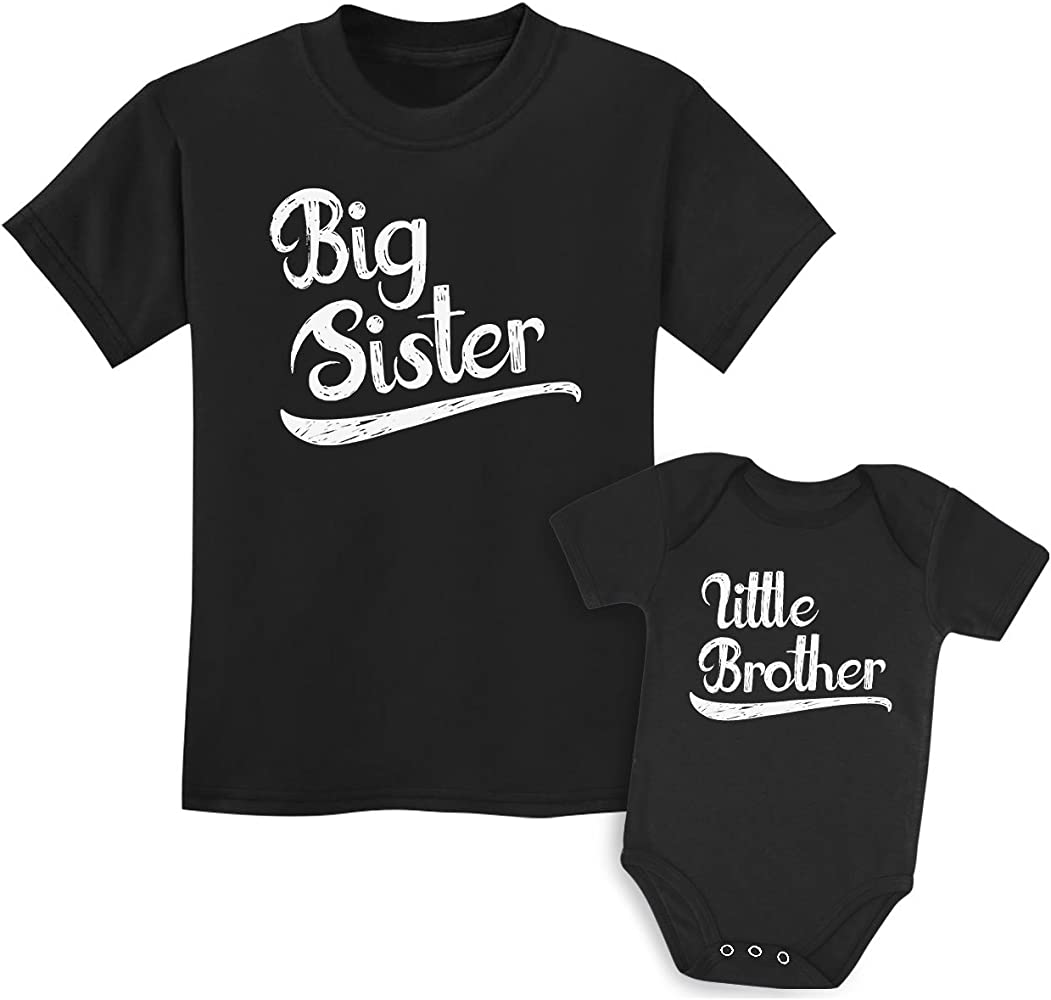 Big brother shirt baby sister shirt-Matching Circle big brotherbaby sister T-shirt-adorable matching sibling shirts MCNS-001