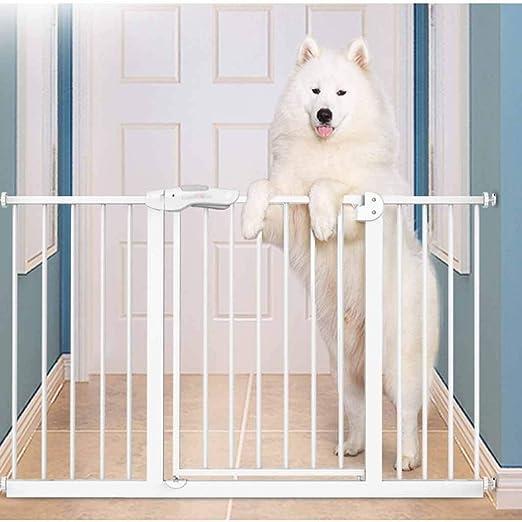 Huo Cubierta Blanca Niño Puertas for Mascotas,Barrera de Seguridad del Bebé Fit Escalera O Una Puerta (Size : 92-100cm): Amazon.es: Hogar