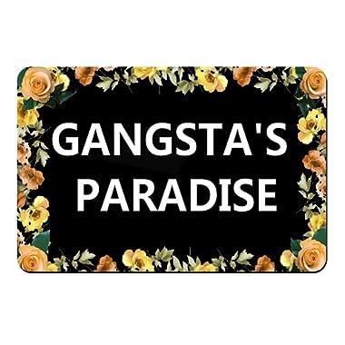 ZBLX gangsta's paradise Funny door mat for daily Use-Stylish Floor Mat Rug Indoor Bathroom Mats Rubber Non Slip
