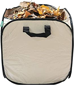 JARDTEC Reusable Yard Waste Bag - Portable Collapsible Leaf Container Holder for Garden Outdoor (2 x 32 Gallons)