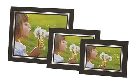 1 x Photograph Presentation Border Frame Card Strut Mount Black ...