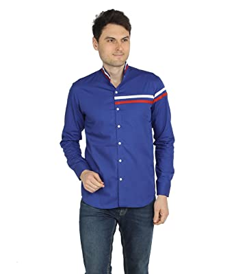 04de03b8f8cce S N. Mens Cotton Multi Pattern Multi Colour Blue Casual Shirt (34)
