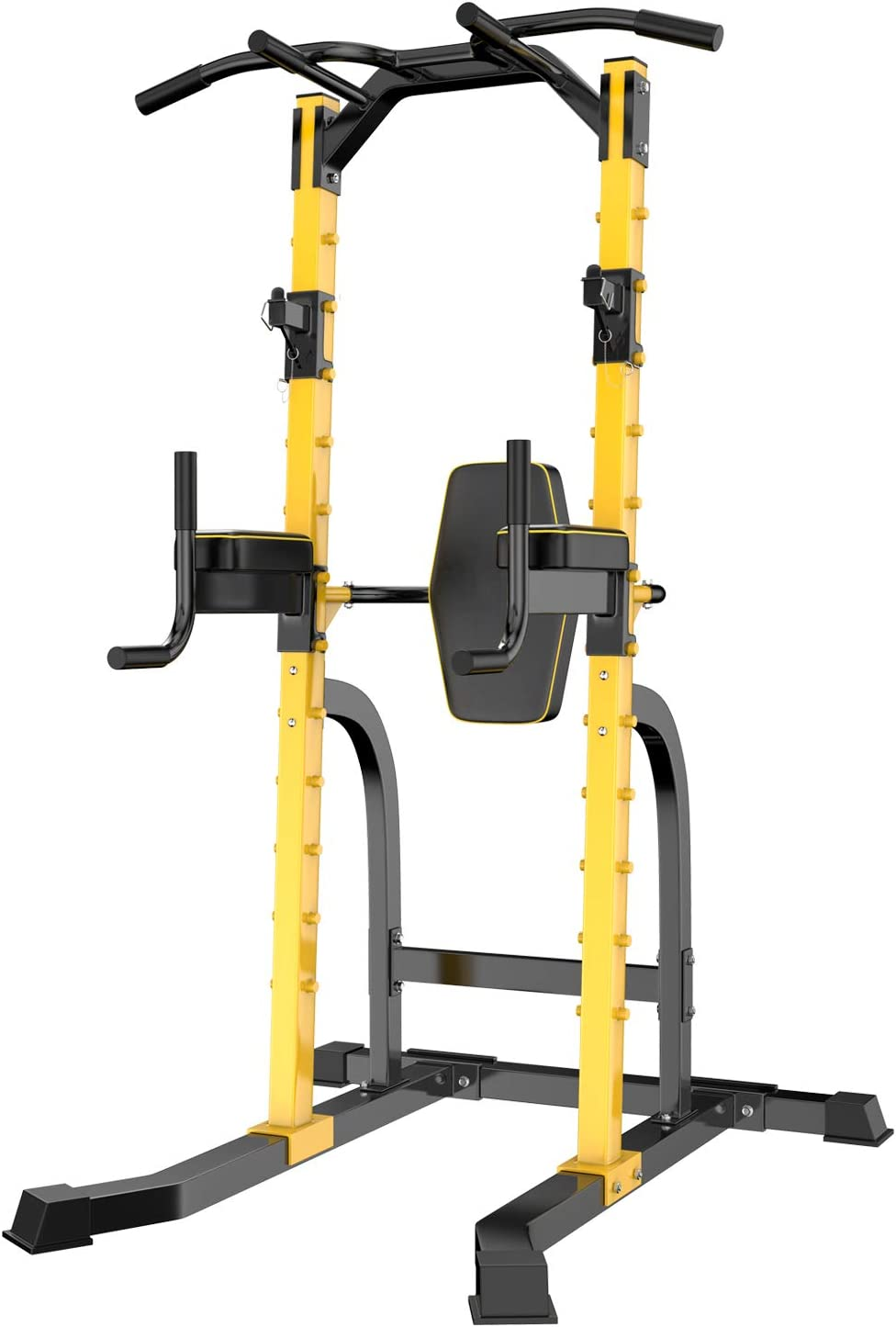 ZENOVA Power Tower Multi-Function Home Strength Training Tower Dip Stands Workout Station