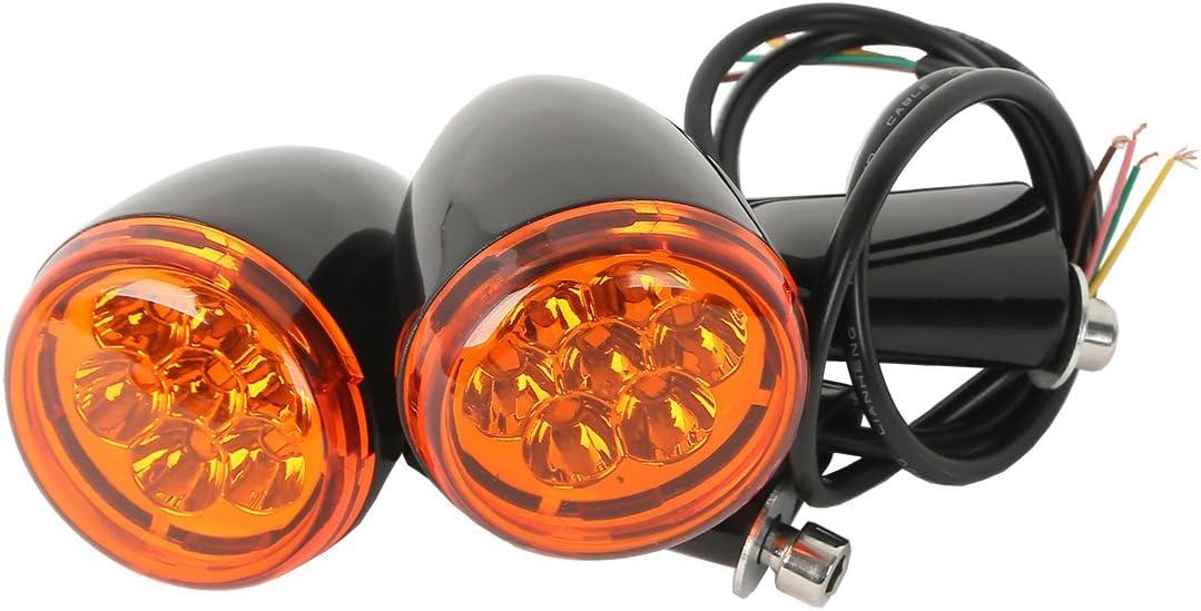 XMT-MOTO Amber LED Turn Signals Lights Bracket fits for Harley Davidson XL883 XL1200 Sportster 1992-2017