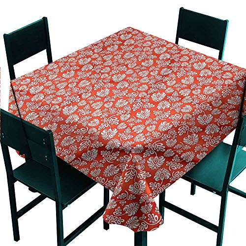 DONEECKL Oil-Proof and Leak-Proof Tablecloth Floral Art Nouveau Pattern Great for Buffet Table W60 xL60