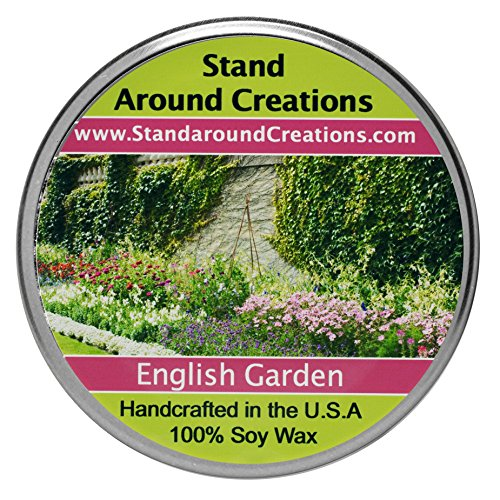 Premium 100% Soy Tureen Candle - 8 oz. - English Garden - Notes of lily, lilac, rose & hyacinth stand out in this must have fragrance for floral lovers. Made ()