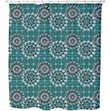 Mandala Mix Shower Curtain: Large Waterproof Luxurious Bathroom Design Woven Fabric