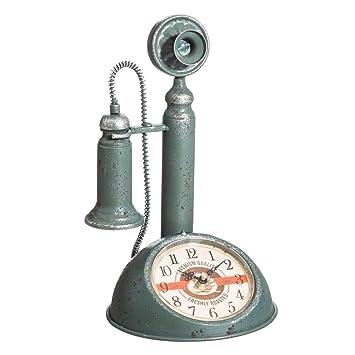 Reloj teléfono de Metal Azul Industrial para decoración Factory - LOLAhome: Amazon.es: Hogar