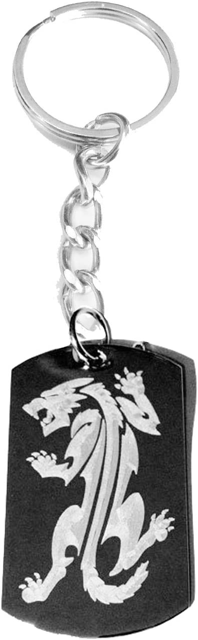 Tribal Fierce Fox Prowling Tattoo Logo Symbols Metal Ring Key Chain Keychain