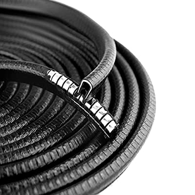 OTOLIMAN Steel Coating Black Rubber 10mmx5metres(16feets) Car Door Edge Scratch Guard Trim Molding Protector Cover Full Size 5m 16feet U Shape Air Vent Edge Decoration: Automotive