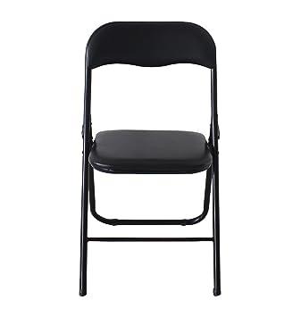 SO LIVING soliving Shiny - Juego de 6 sillas Plegables Negro ...