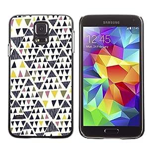 Be Good Phone Accessory // Dura Cáscara cubierta Protectora Caso Carcasa Funda de Protección para Samsung Galaxy S5 SM-G900 // Art Geometrical Triangle