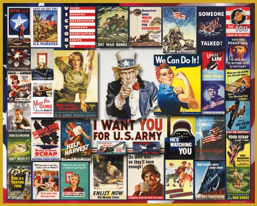Puzzles WWII Poster Collage - 1000 Piece Jigsaw Puzzle