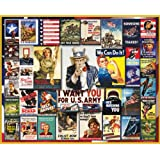 White Mountain Puzzles WWII Poster Collage - 1000 Piece Jigsaw Puzzle