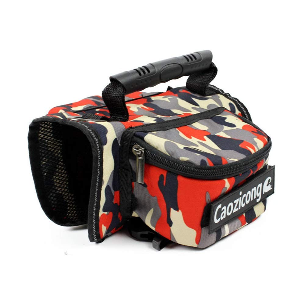 Red camouflage XLHYUE Dog from Backpack Pet Backpack Breathable Cotton Extremist Clear Dog Bag (color   Military Green Camouflage, Size   XL)