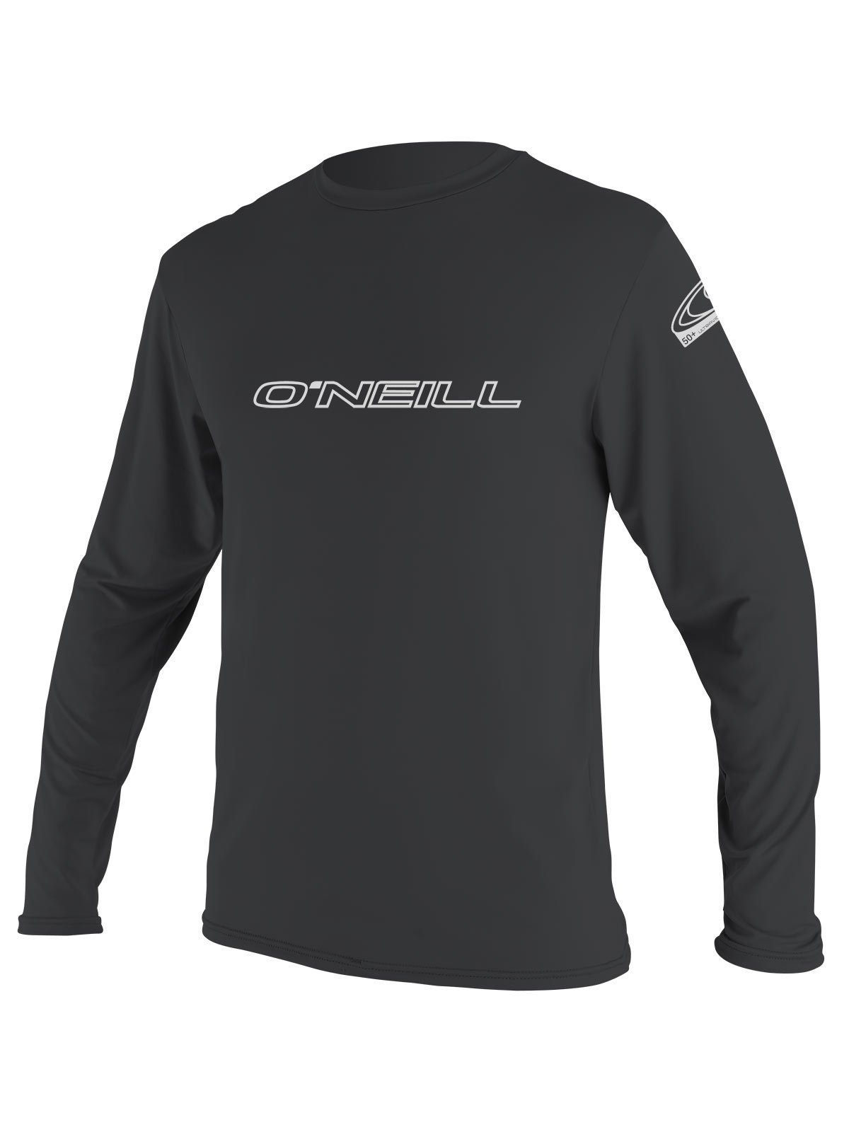O'Neill Men's Basic Skins Longsleeve Rash Tee M Graphite (4339IS) by O'Neill Wetsuits (Image #1)