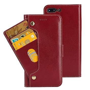 8f26ffd956 Amazon   iPhone8 Plus / iPhone7 Plus 本革ケース 手帳型 9枚カード収納 ...