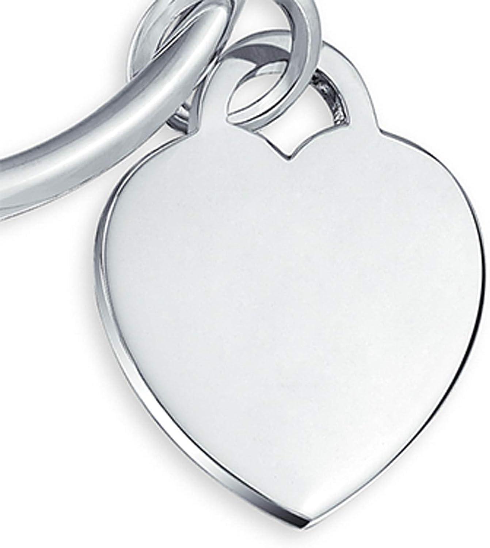 Keyring 2 hearts Tin finish Silver 925 \u00f830 mm
