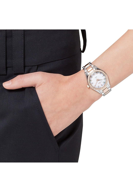 CHRIST times Damen-Armbanduhr Edelstahl Analog Quarz One Size - perlmutt - silber rosÉ
