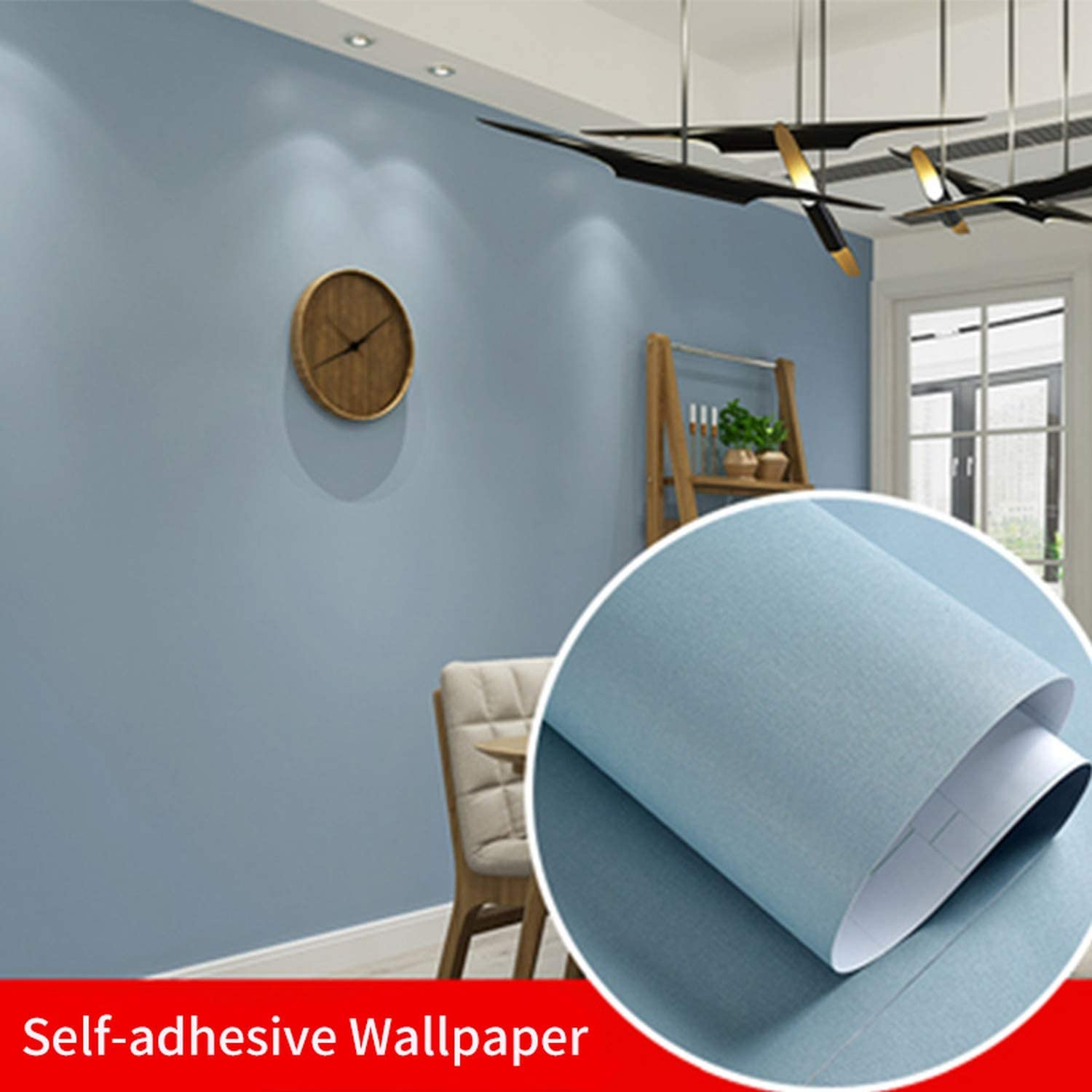 Amazon Com Ocean Wall Stickers Solid Color Moire Proof Self Adhesive Wallpaper For Living Room Kids Bedroom Vinyl Contact Paper For Dormitory Room Decor Wallpaper Lgbu 60cm X 3m Kitchen Dining