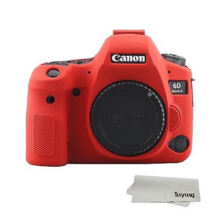 TUYUNG - Funda de Silicona para cámara de Fotos Canon EOS 6D Mark ...