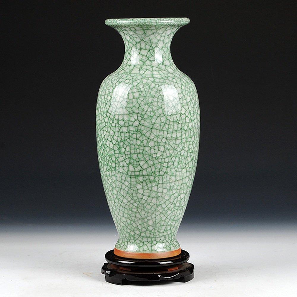 XIAOYAN 景徳鎮セラミック6月磁器アンティーク花瓶ホームデコレーションリビングルーム磁器現代中国スタイル古典的な工芸品装飾 B07DN3L3GY