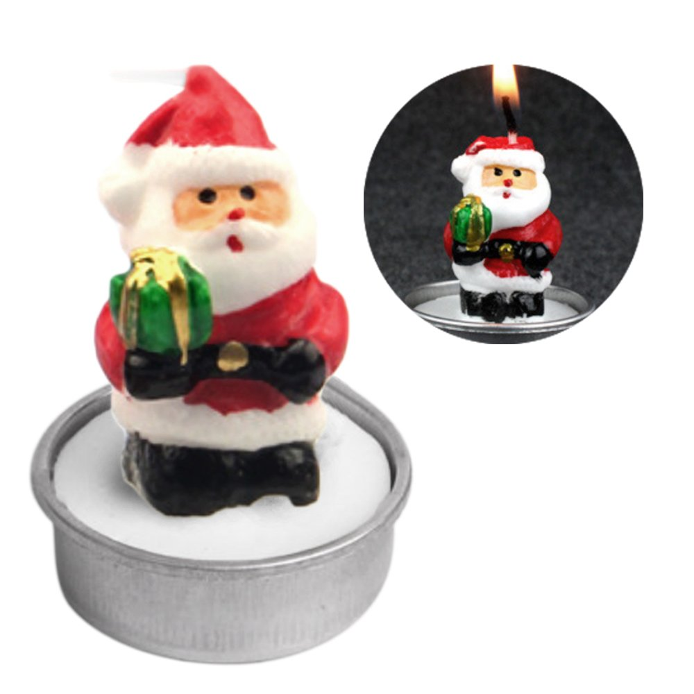3PCS Handmade Delicate Decoration Candles Tealight Smokeless for Merry Christmas Xmas Party Home Decor Gift Box