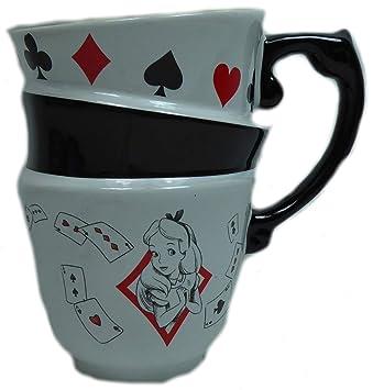 500 ml Ideal casa Teekanne Tasse Alice im Wunderland Disney aus Keramik
