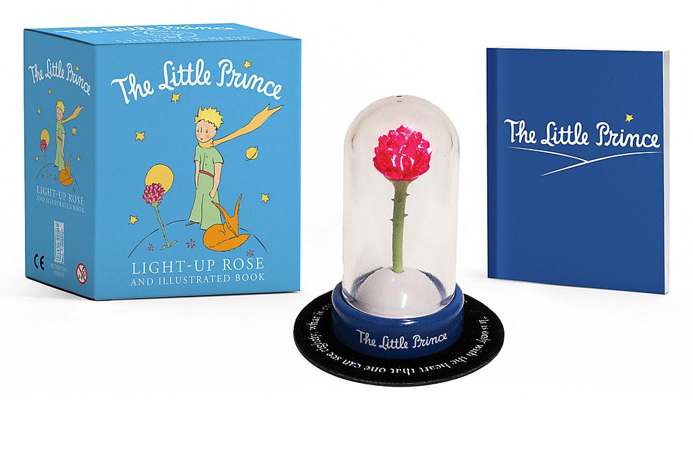 The Little Prince: Light-Up Rose and Illustrated Book (Miniature Editions) Paperback – April 24, 2018 Running Press 076246500X Popular Culture Toys